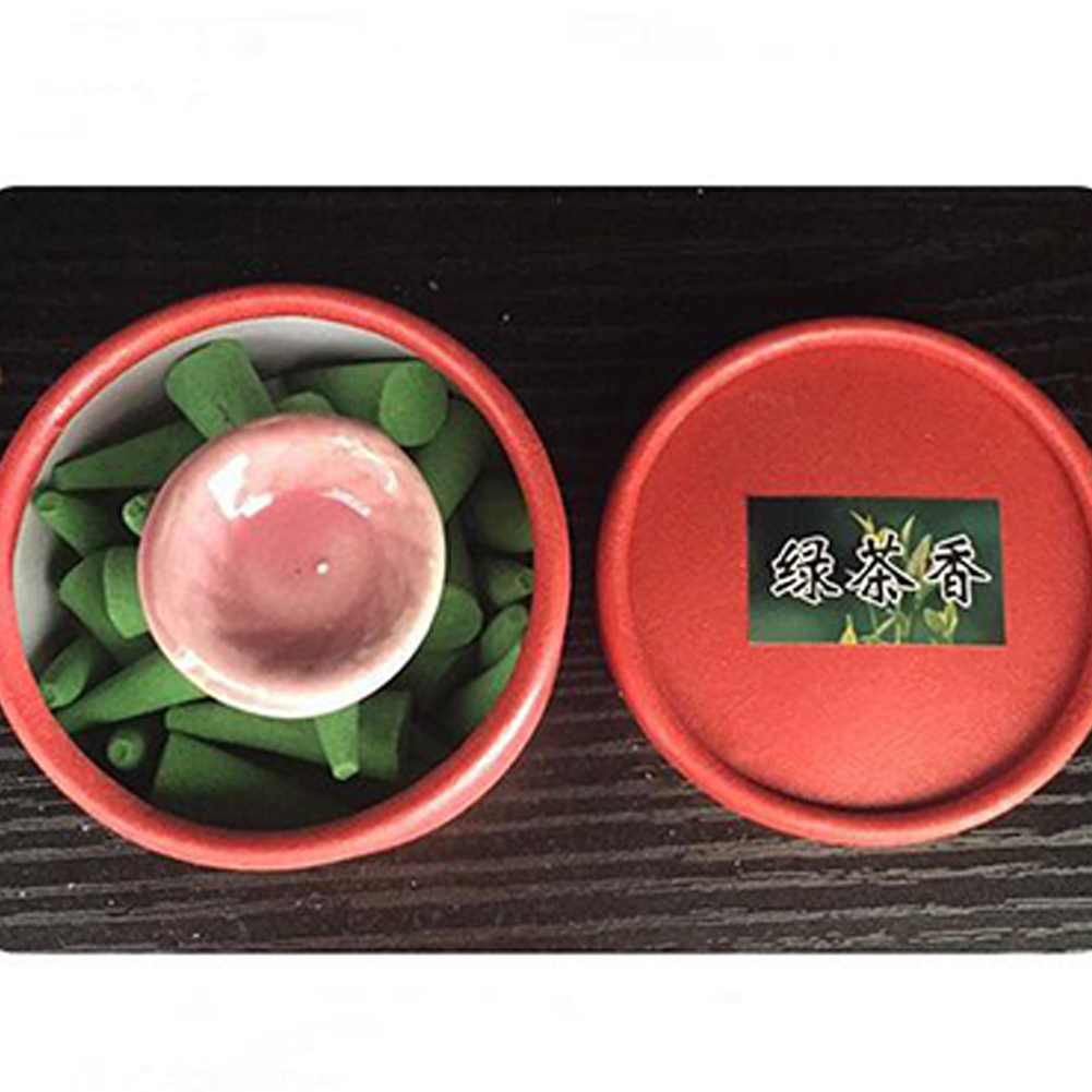 40 Pcs/Box Pagoda Incense Natural Incense Household Conical Aromatherapy Towers Incense with Spice Tray