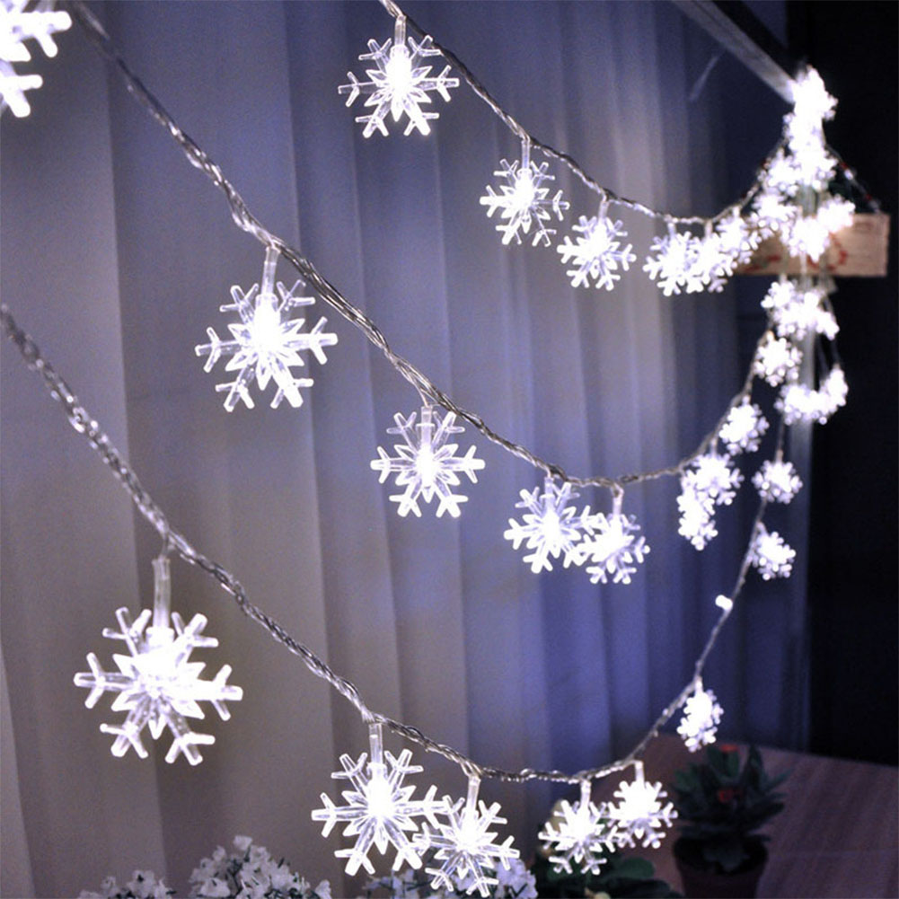 40 LED 6 Meters Christmas Party Wedding Outdoor Decor Snowflake Light String White light
