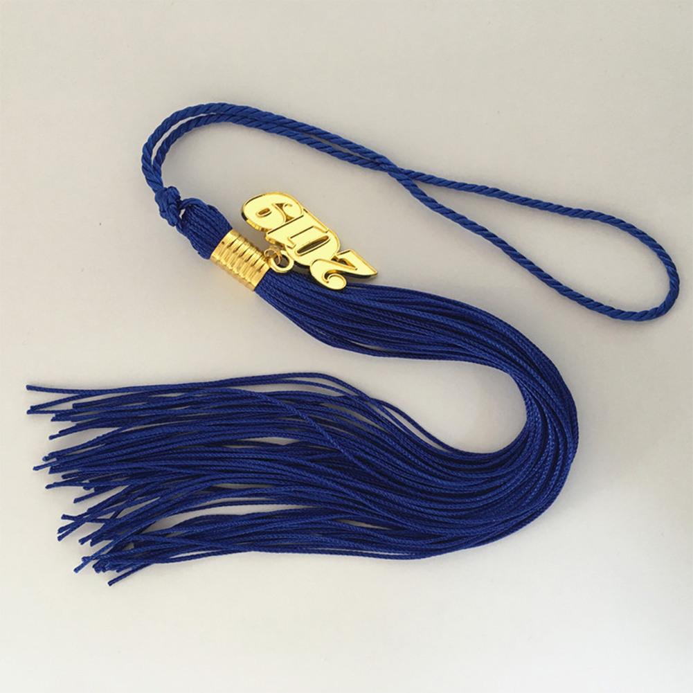 40cm Graduation Tassel Academic Graduation Tassel with 2019 Year Charm Ceremonies Accessories for Graduates blue