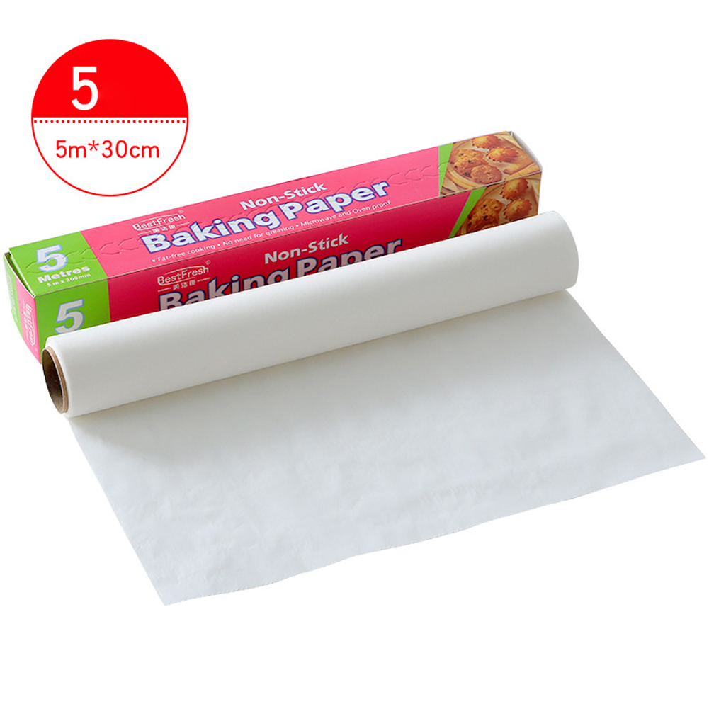 Bakeware Baking Cooking Paper Rectangle Baking Sheets for Kitchen Bakery BBQ Party 5 m