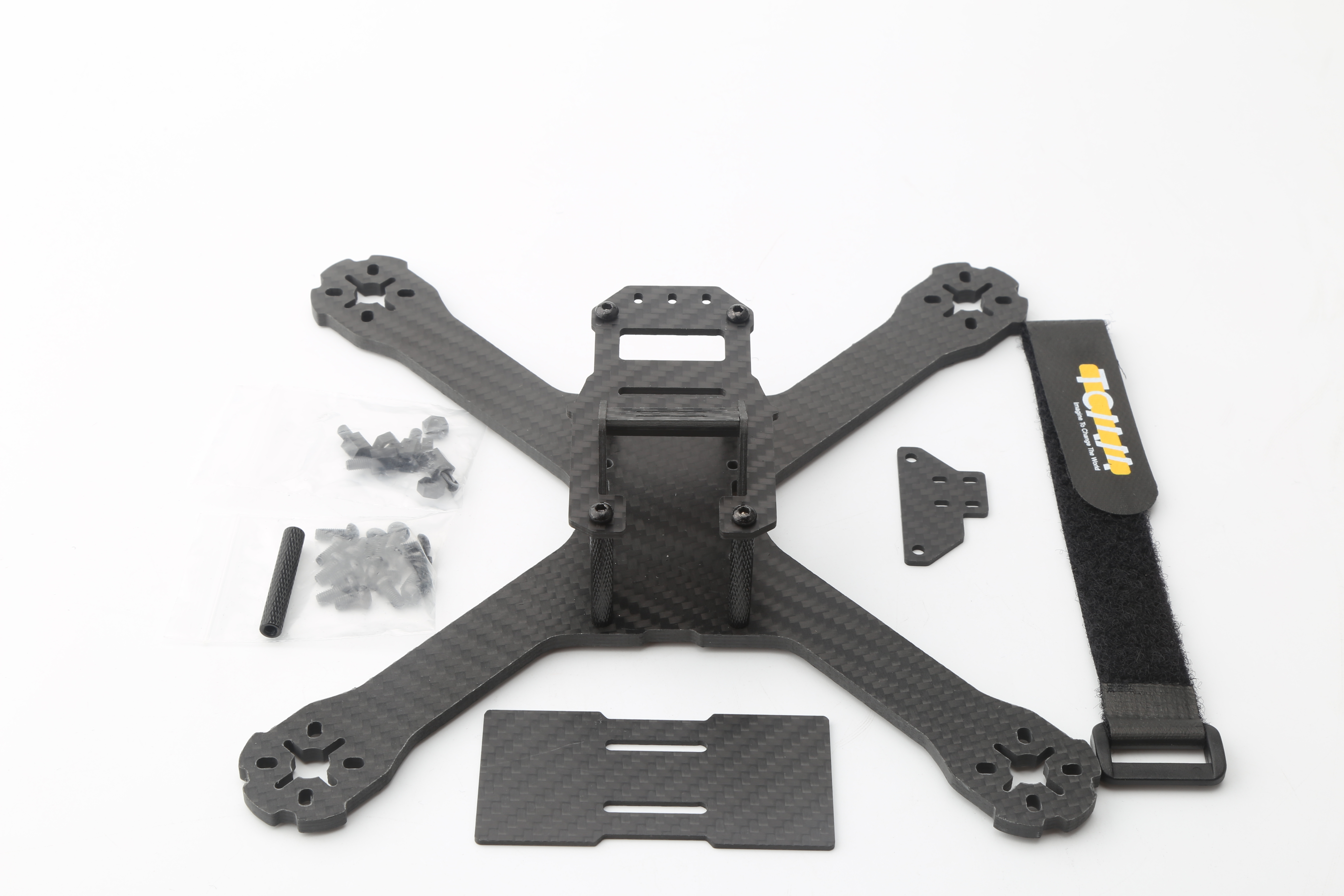 FPV Racing Drone QAV-XS 222 Carbon Fiber Stretch-X Quadcopter Frame Kit 4mm Arm for QAV-X 214 QAV-R 220 GEP-TX Martian 214 as shown