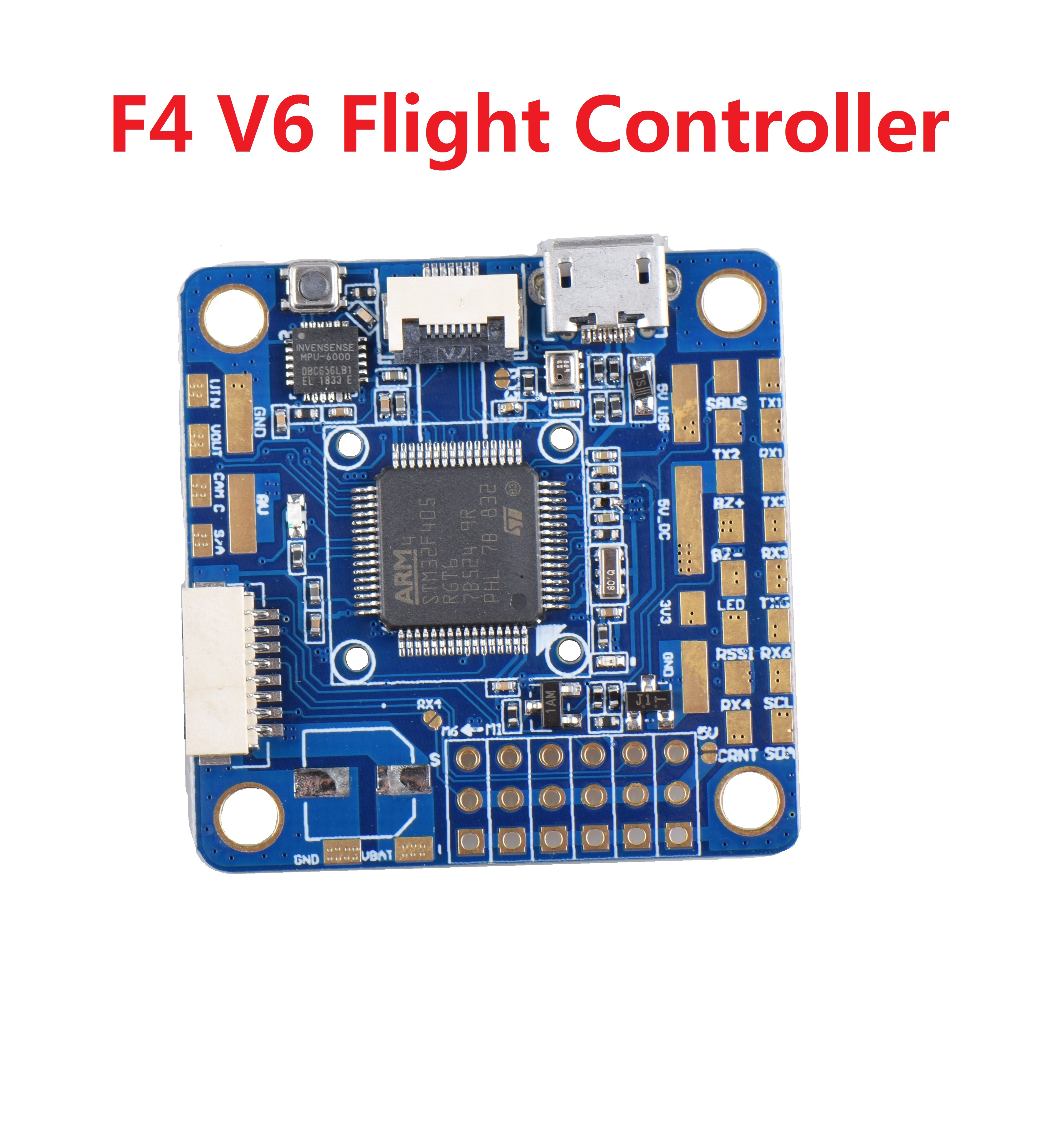 Betaflight F4 V6 Flight Controller OSD STM32 F405 5x UARTs 30.5x30.5mm for RC Drone as shown