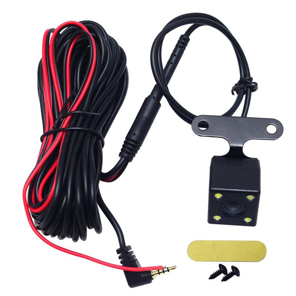 120 ° Wide Degree Reversing Camera  Car Parking Rear View Camera LED  Lamp Night Vision Backup Waterproof black