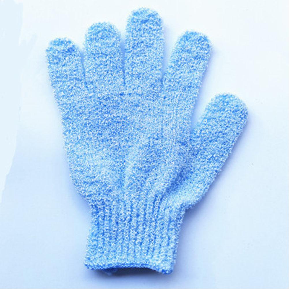 Children Kids Exfoliating Body Scrub Gloves Shower Bath Mitt Skin Massage Bath Towel Sky blue