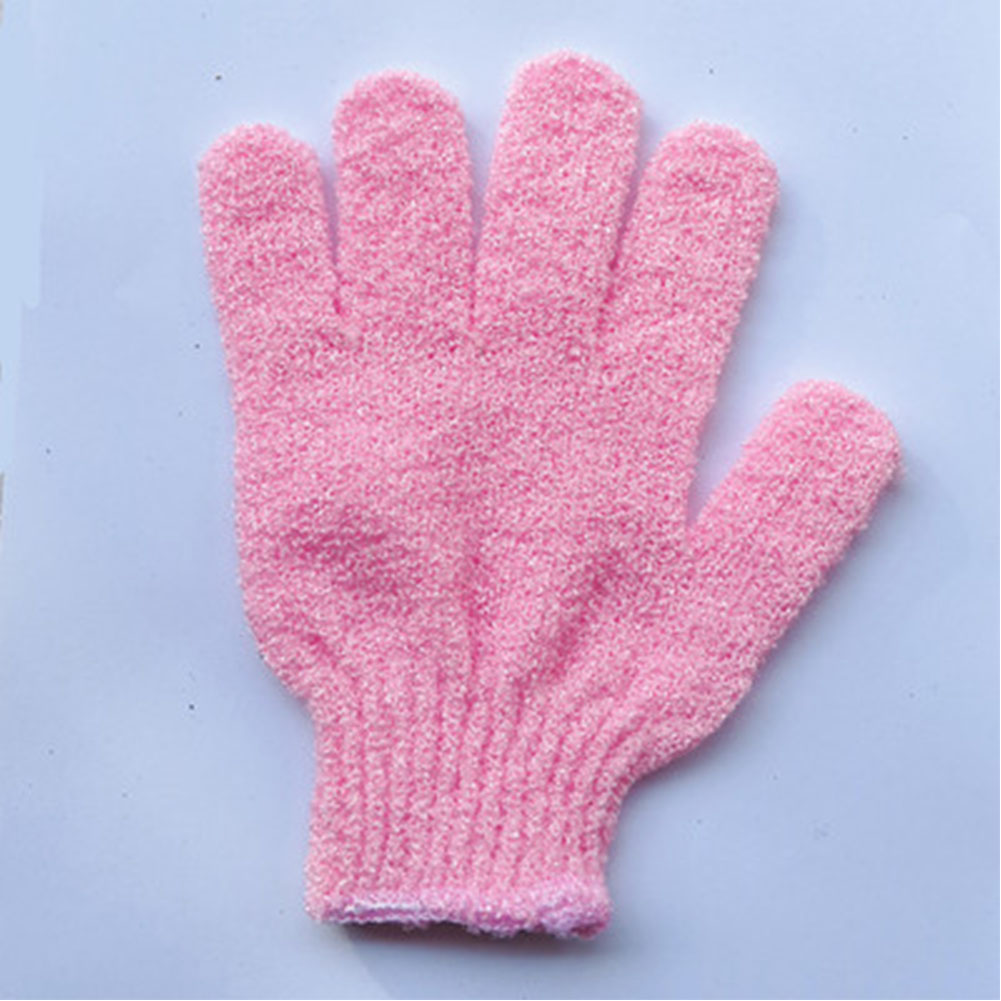 Children Kids Exfoliating Body Scrub Gloves Shower Bath Mitt Skin Massage Bath Towel Pink