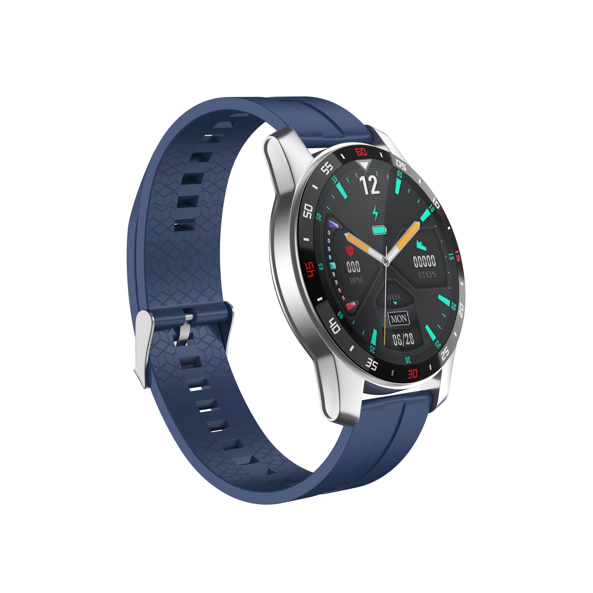 F12 Pro Bluetooth 5.0 Sports Smartwatches Color Display 280mah 24h Real Time Heart Tate Monitoring Smartwatch blue