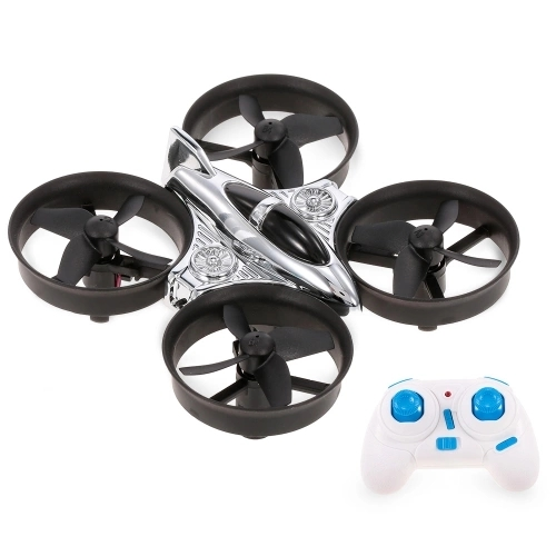 XK Q808 2.4G 6-Axis Gyro Mini Ducted Drone Altitude Hold 360° Flip Headless Mode RC Quadcopter for Beginner RTF silver