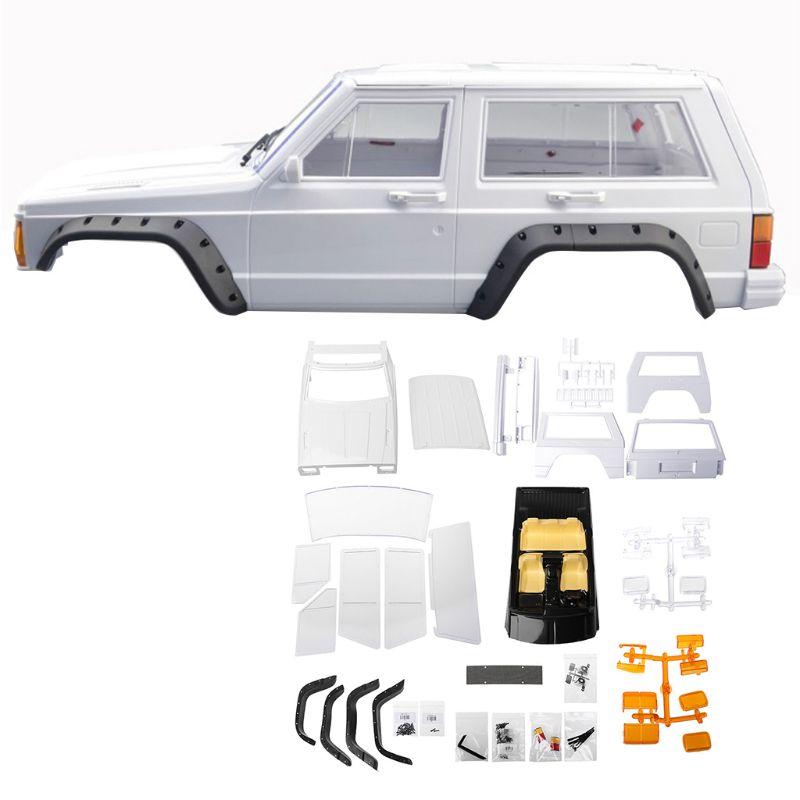 Hard Plastic Wheelbase Cherokee Body Car Shell 1/10 RC Crawler Axial SCX10 & SCX10 II 90046 90047 For TRX4 Kit white