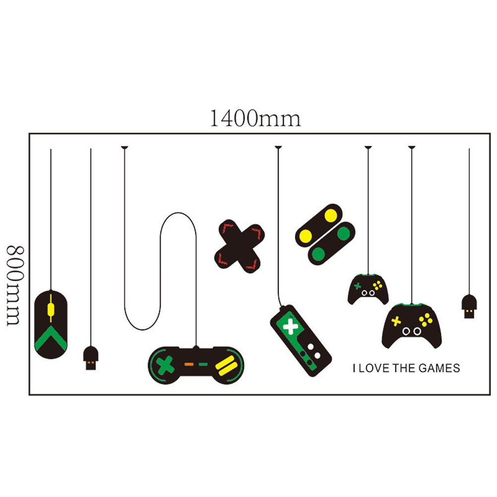 2pcs/set Game Console Gamepad Pattern Decoration Wall Sticker Internet Cafe Study Computer Desk Background Decal 25 * 70cm * 2PCS