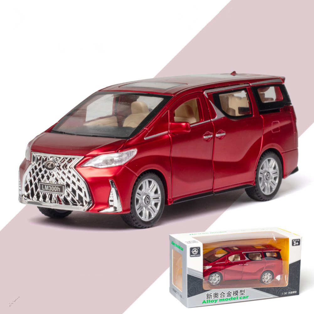 1:32 Pull Back Vehicles Alloy Model Cars Toy With Sound Light Function For Kids red