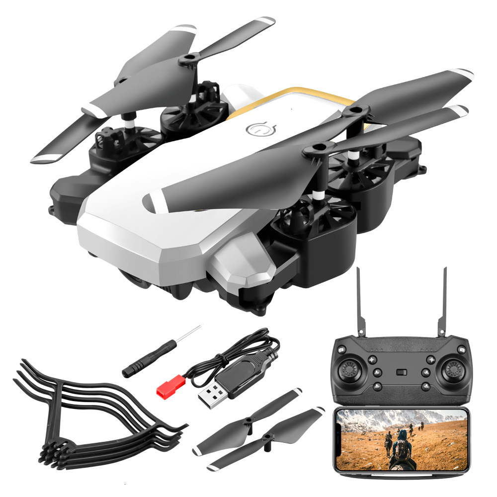 WIFI FPV Long Battery RC Drone Wide Angle Selfie Quadcopter High Definition Helicopter Altitude Toys White 200w