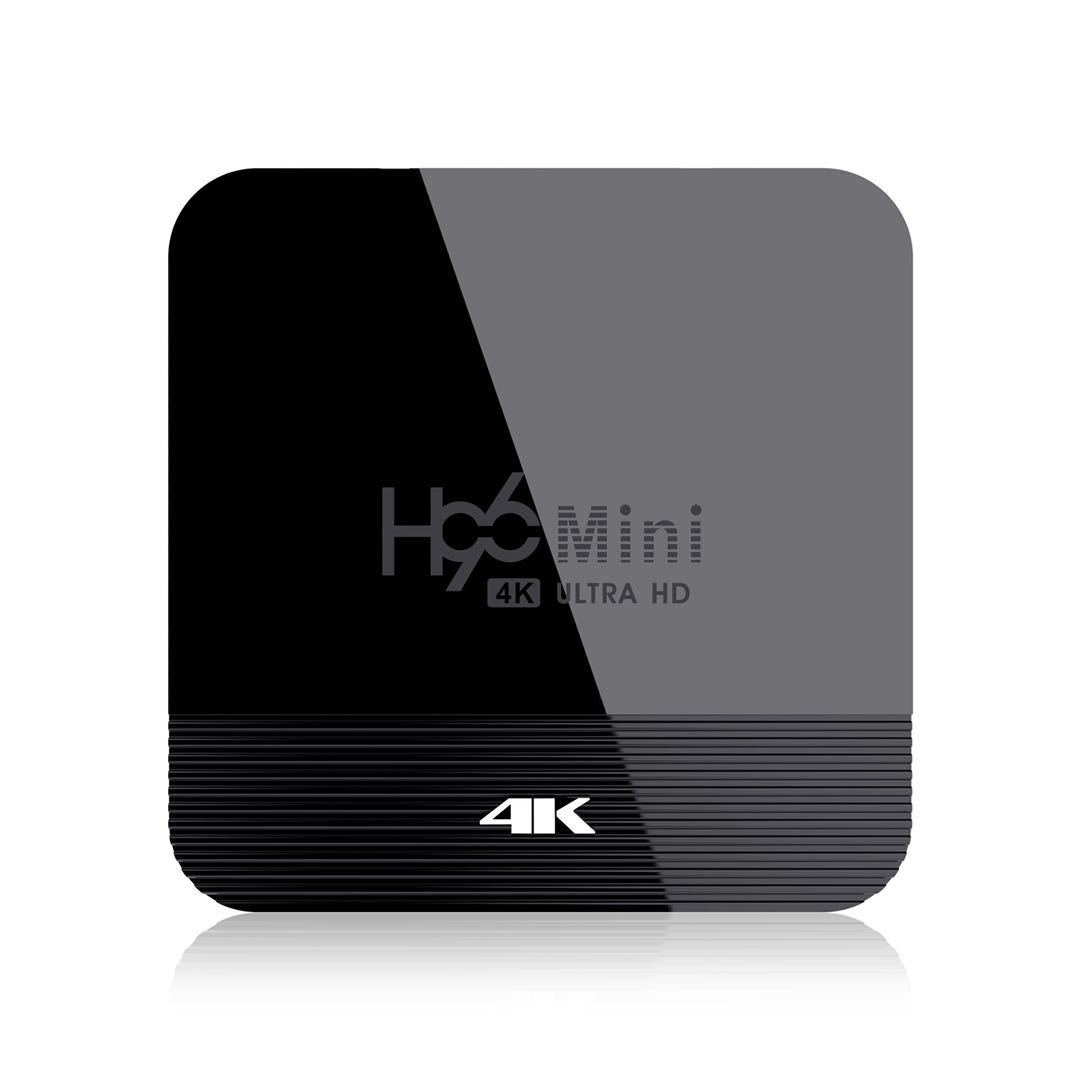 H96 Mini H8 Android 9.0 TV Box 1080p 4k Wifi Google Store Netflix H96mini 1g8g Set Top Box black_1GB + 8GB with G20 voice remote control