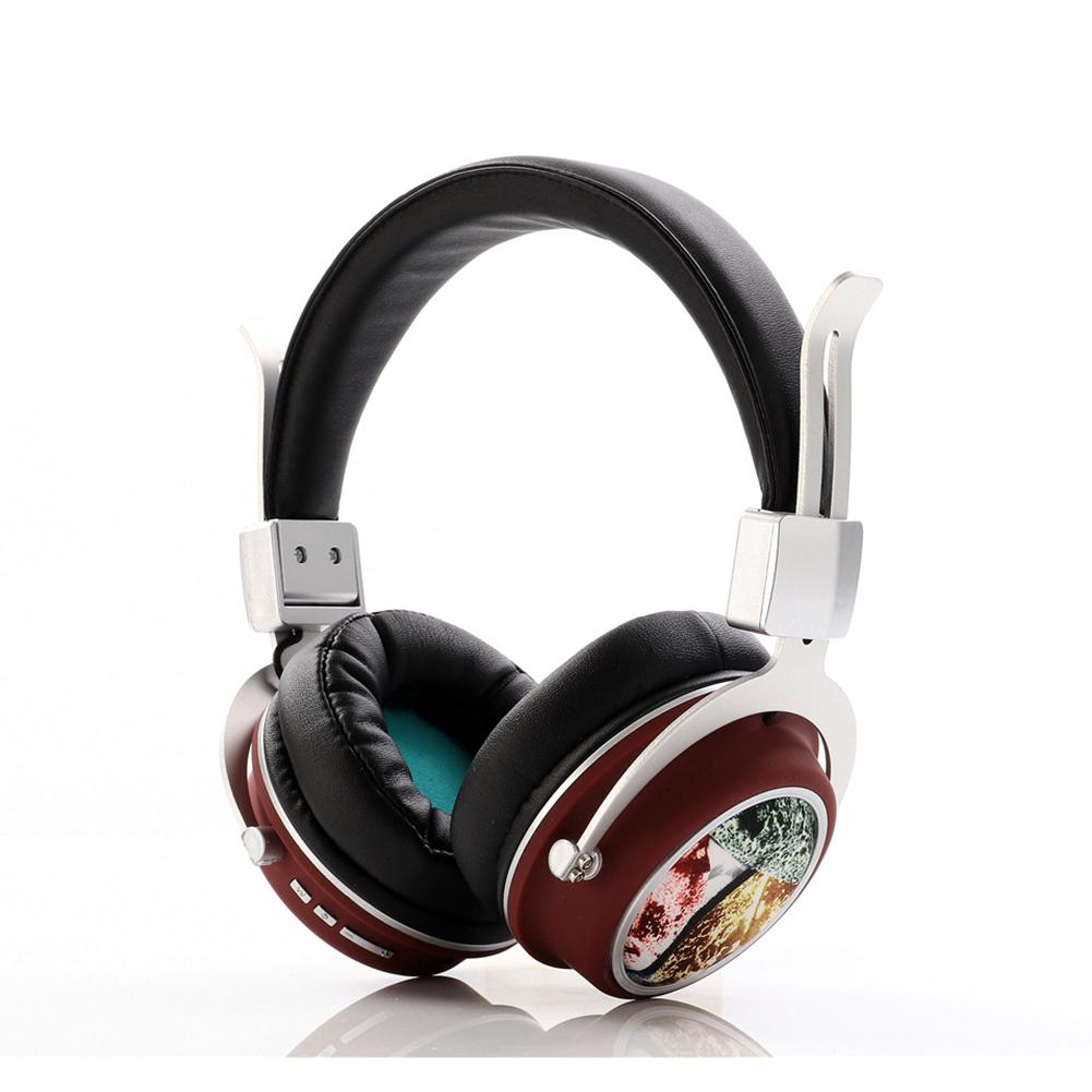 Head Set Wireless BT Bass Headset Phone Insert Card Radio Headset MH5 purple