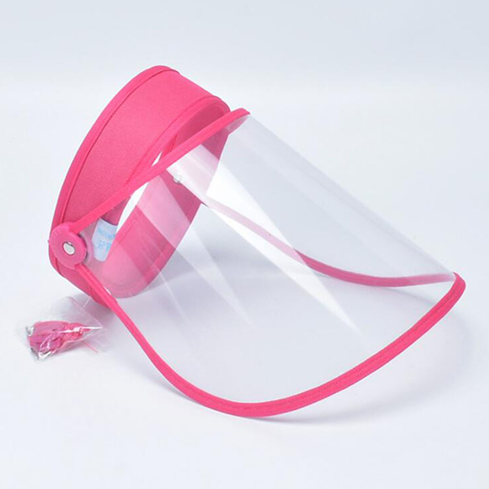 Anti-droplet Empty Top Hat Safety Face Protector Proof Anti-Spitting Cover Cap Rose red