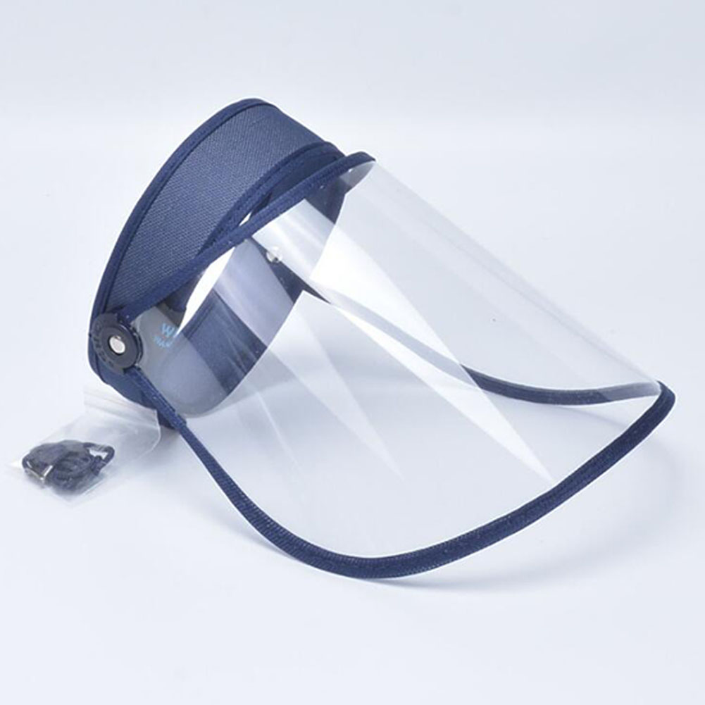 Anti-droplet Empty Top Hat Safety Face Protector Proof Anti-Spitting Cover Cap Navy