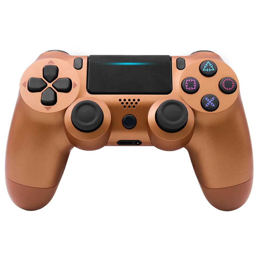 For PS4/Slim Controller Bluetooth 4.0 Mobile Gamepad with Light Bar Bronze