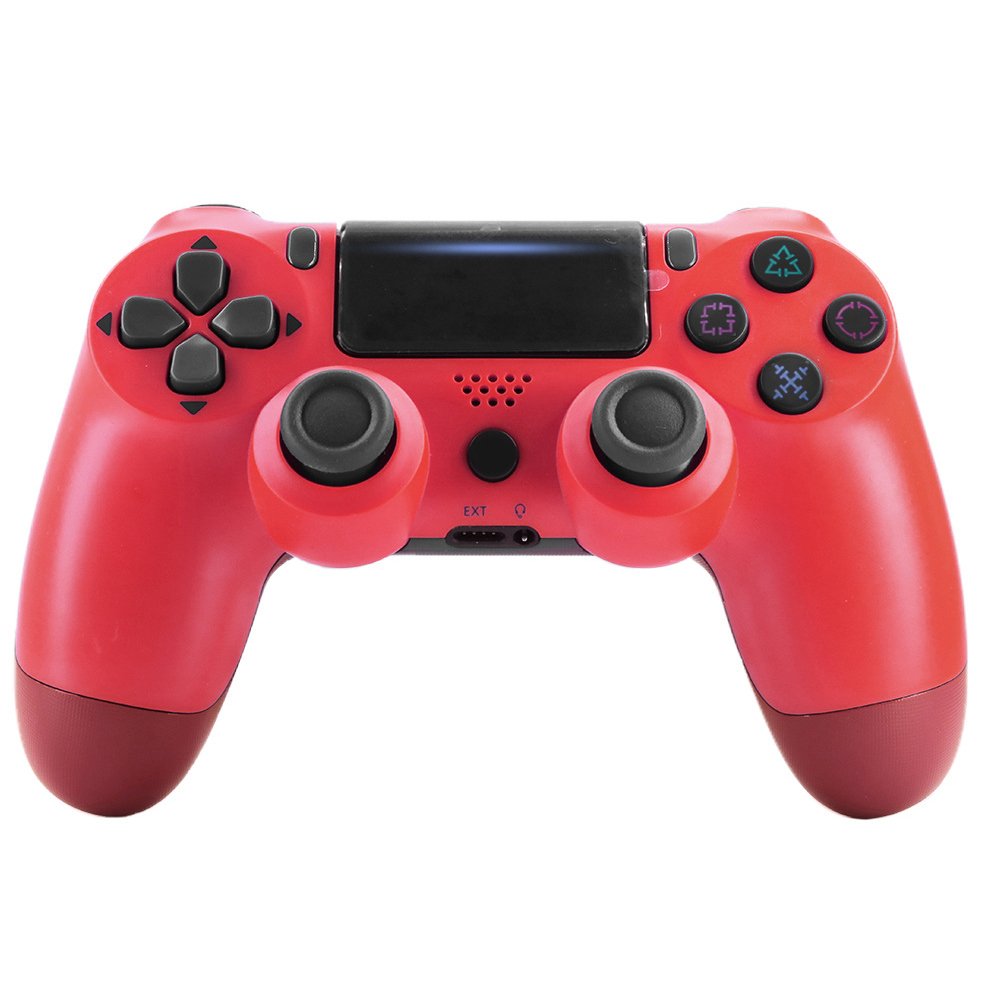 For PS4/Slim Controller Bluetooth 4.0 Mobile Gamepad with Light Bar red