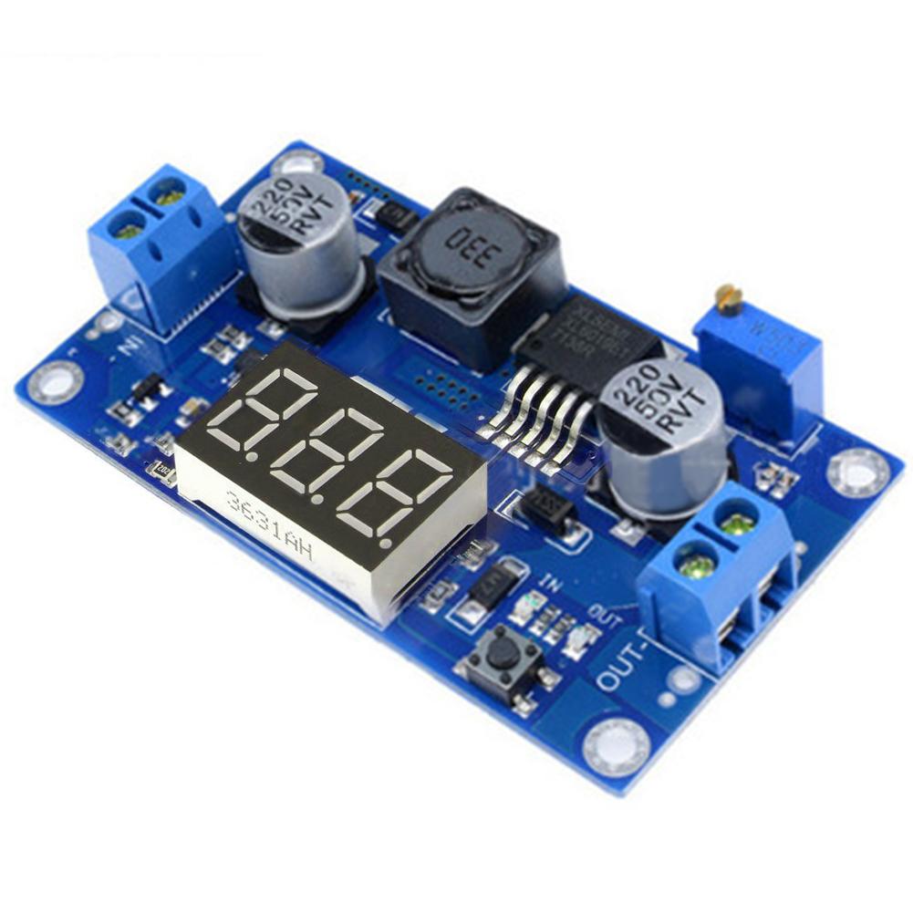 XL6009 Power Module + LED Voltmeter DC-DC 3V~32V to 5V~35V Boost Module with Adjustable Voltage Meter Display
