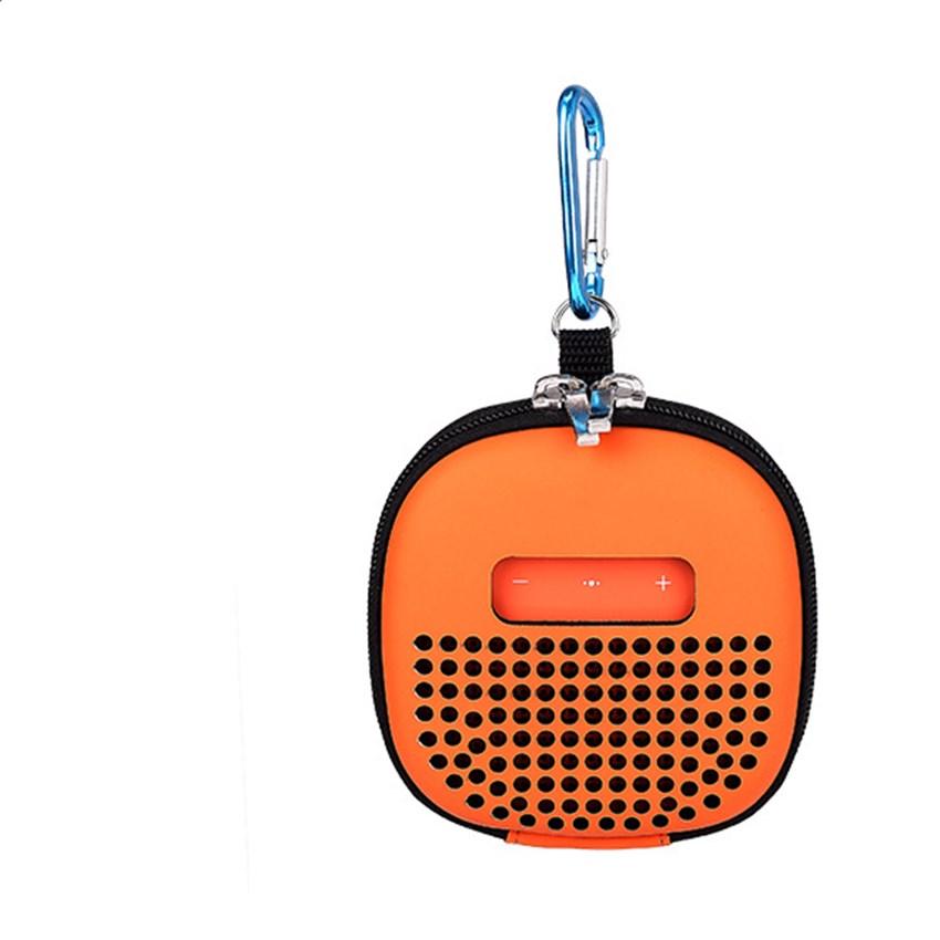 Speaker Carrying Case for Bose SoundLink Micro Bluetooth Speakers Shockproof EVA Storage Bag with Buckle Hook for Outdoor Travel orange