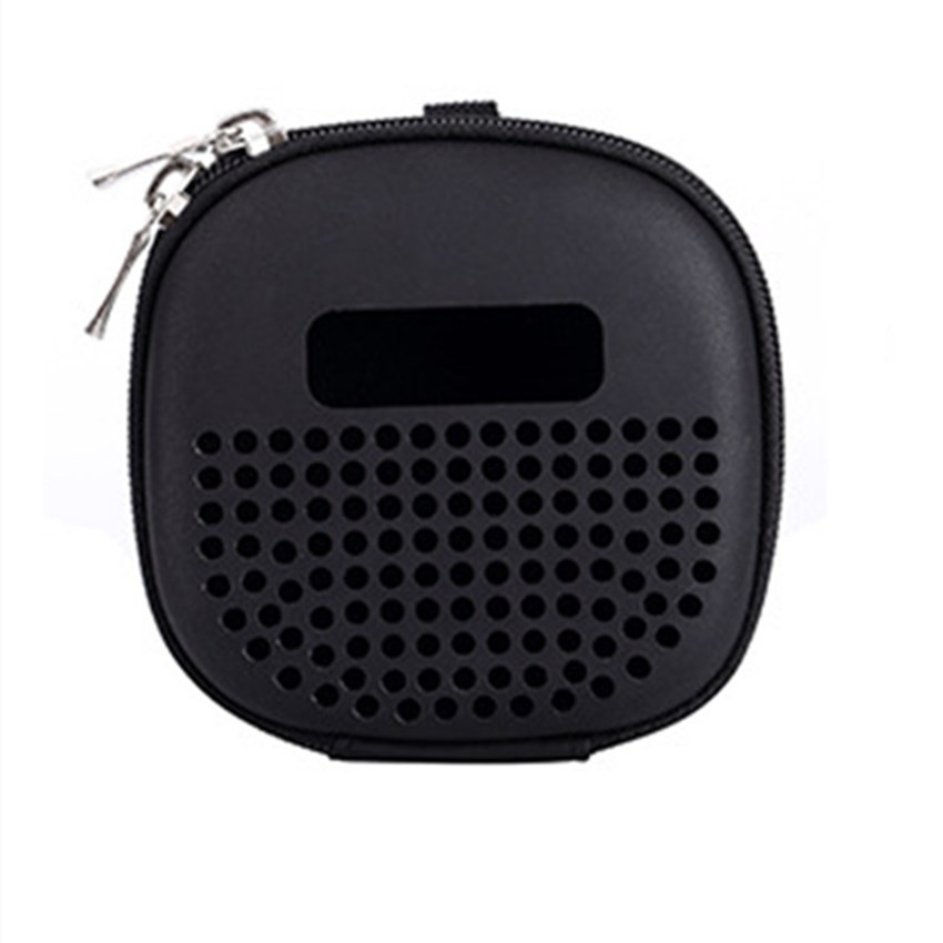 Speaker Carrying Case for Bose SoundLink Micro Bluetooth Speakers Shockproof EVA Storage Bag with Buckle Hook for Outdoor Travel black