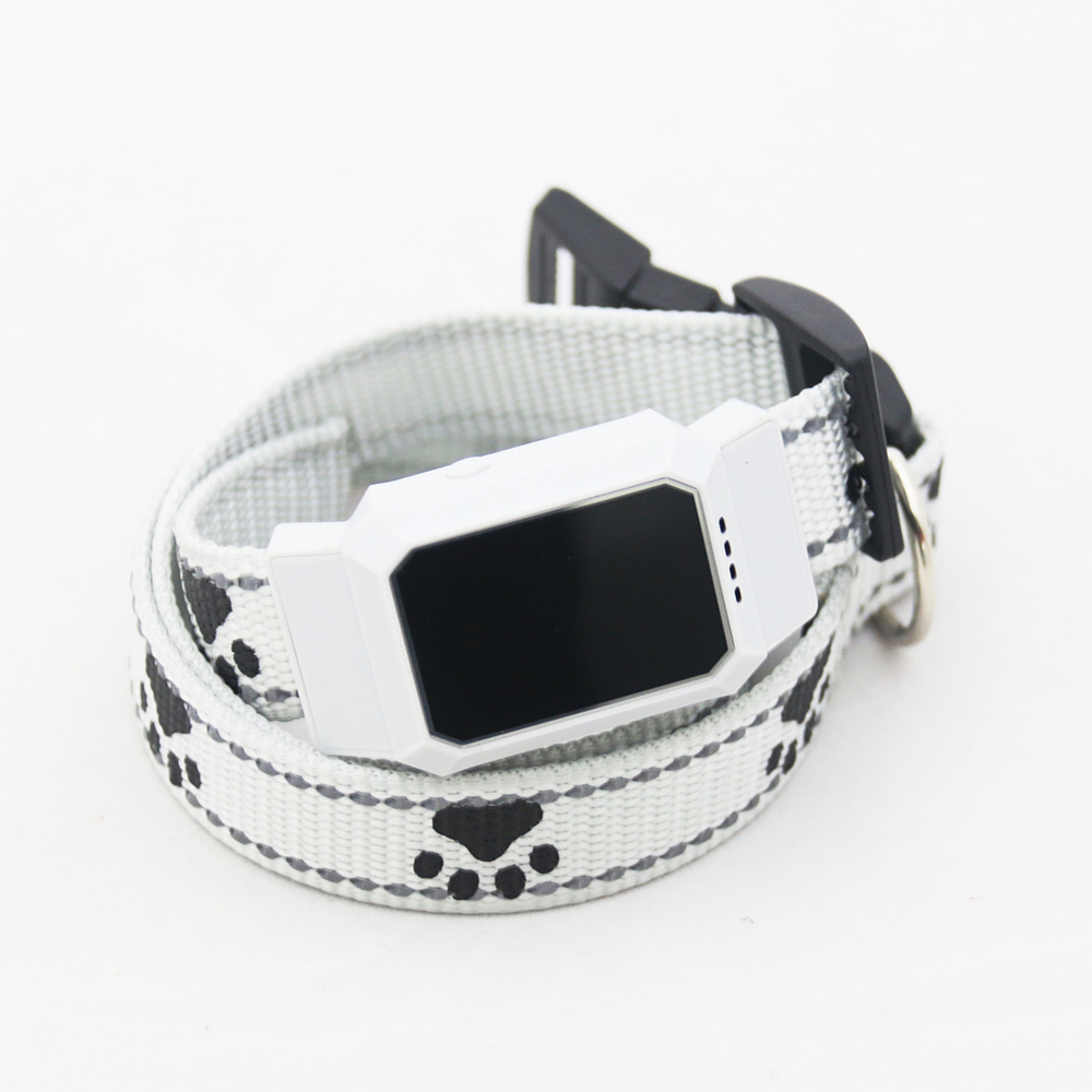 D35 Pet GPS GSM Tracker Dog Cat Real-time Tracking Collar Security Finder Locator white