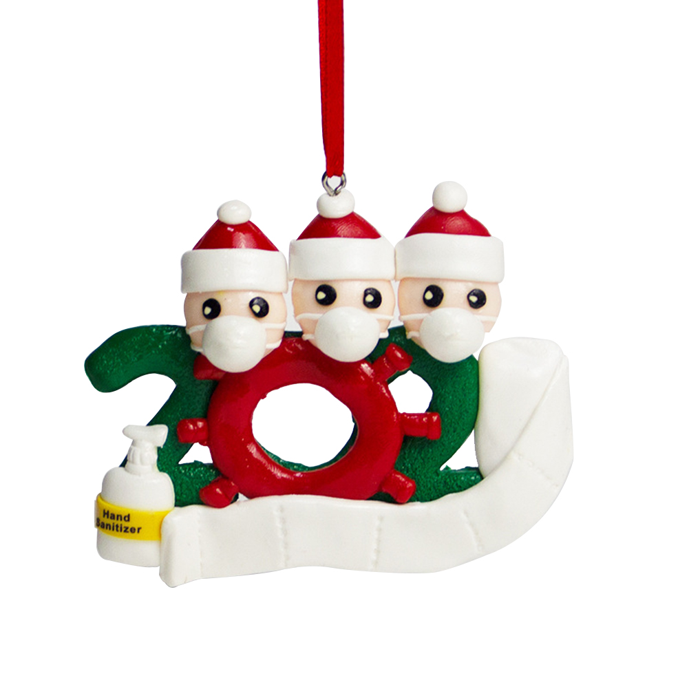 Personalized Name Christmas Ornament kit with Mask for Family Christmas Decor 3 snowmen