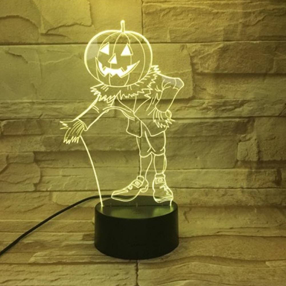 Halloween Pumpkins Shape USB Battery Powered 3D Atmosphere Night Light Halloween Pumpkin-4