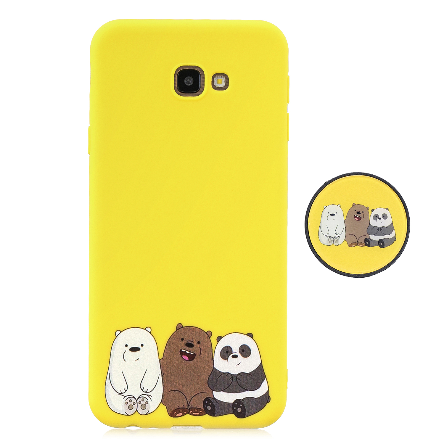 For Samsung J4 PLUS Non-Slip TPU Bumper Case Shockproof Full-Body Protective Case Cover with Adjustable Bracket 7