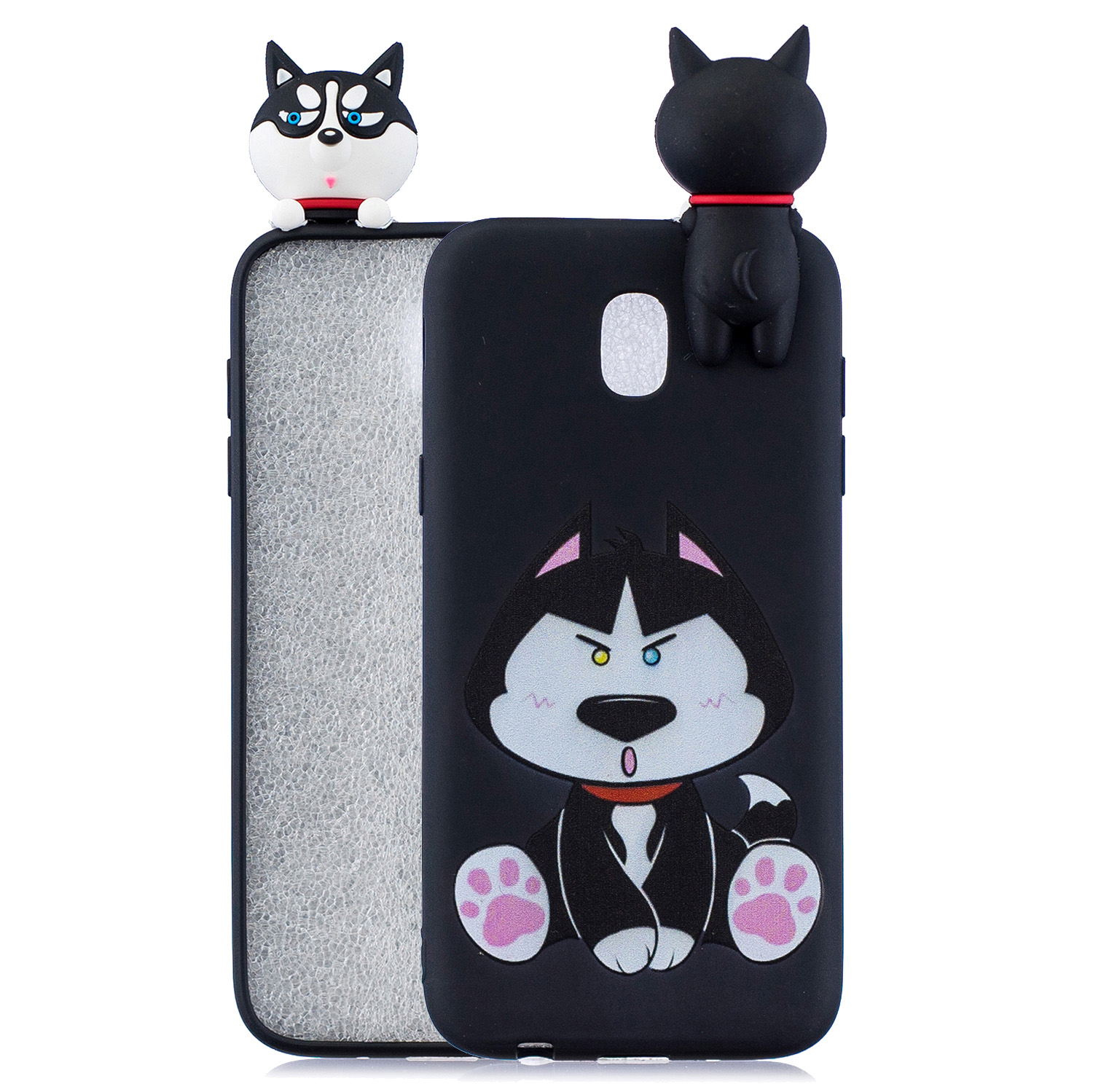 For Redmi 8A 3D Cartoon Painting Back Cover Soft TPU Mobile Phone Case Shell Cute husky