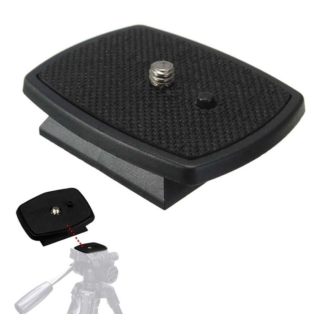 Tripod Quick Release Plate Screw Adapter Mount Head for DSLR SLR Digital Camera black