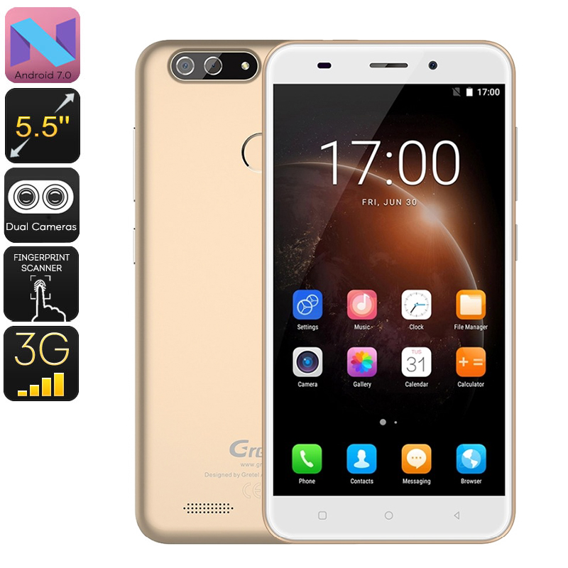 Gretel S55 Android Phone (Gold)