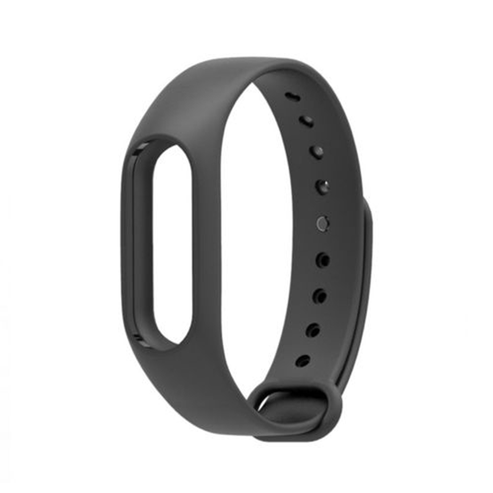 Fashion Simple Soft Silicone Replace Wrist Strap WristBand Bracelet for XIAOMI MI Band 2 black