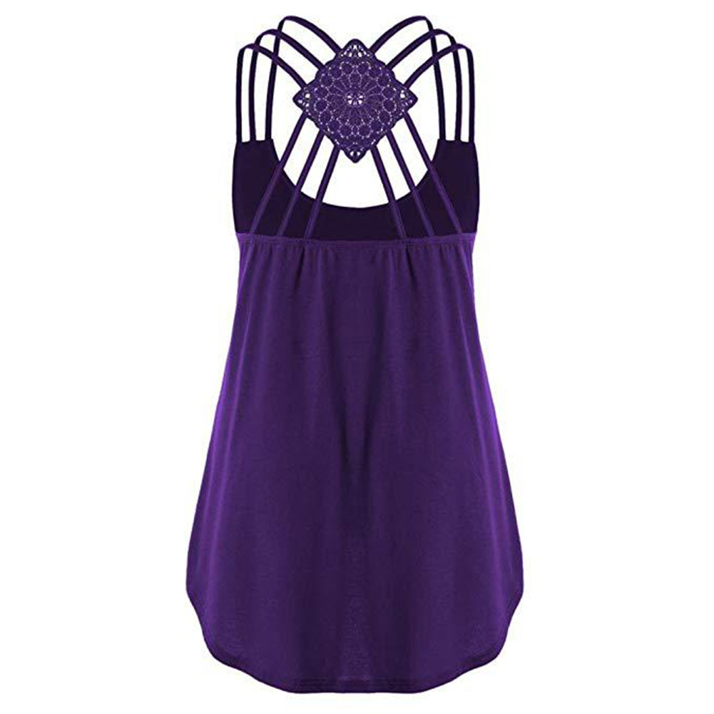 Women Summer Sexy Sling Solid Color Shirt