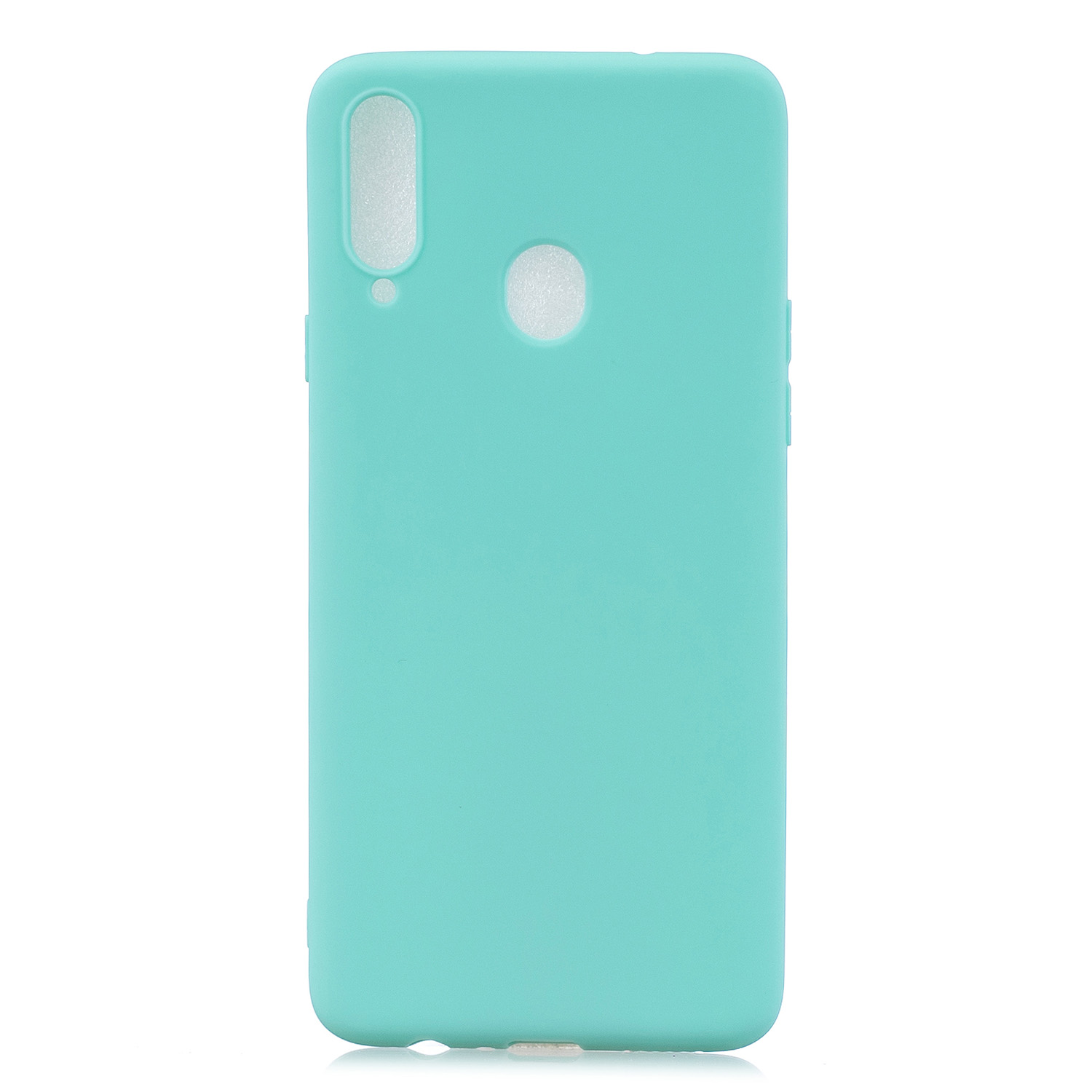 For Samsung A10S A20S Shockproof TPU Back Cover Soft Candy Color Frosted Surface Mobile Phone Case Light blue