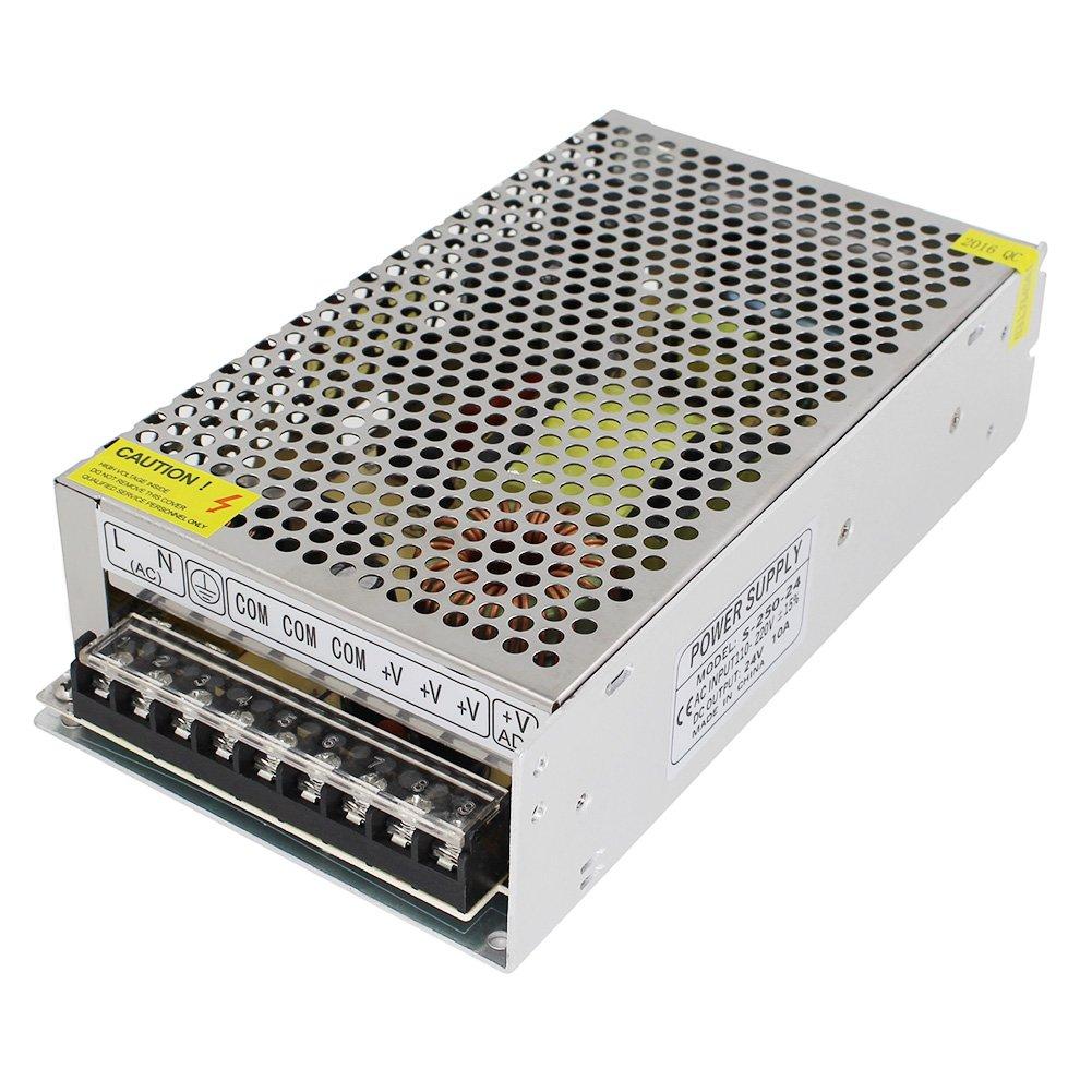 110V/220V AC to DC 24V Switch Power Supply Driver Power Transformer for CCTV Camera/Security System/LED Strip Light/Radio/Computer Project