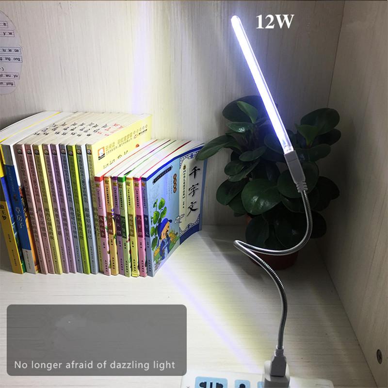 High Brightness 24LEDs USB Night Light Portable Dormitory Bedroom Bedside Table Lamp 5V 12W white light
