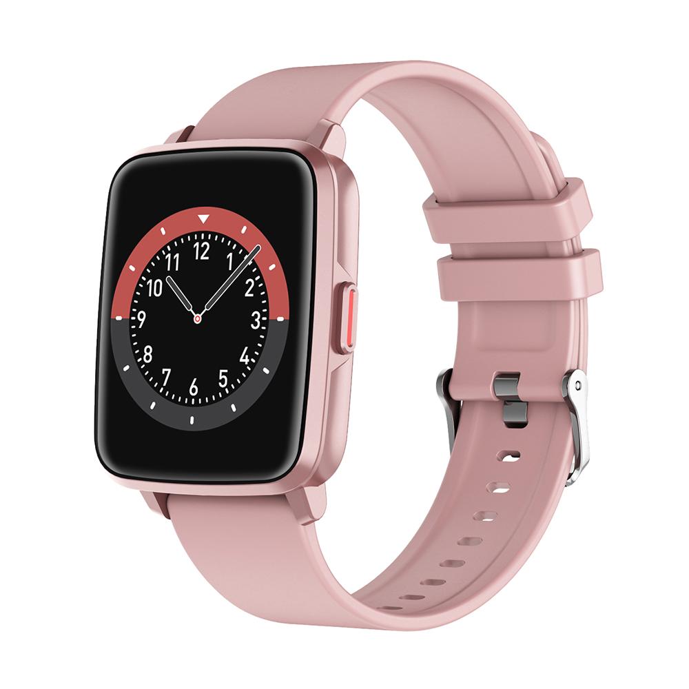 Smart  Watch Hd Screen Music Ip68 Waterproof Sports Monitoring Heart Rate Sleep Pedometer Smart Watch Pink rubber belt