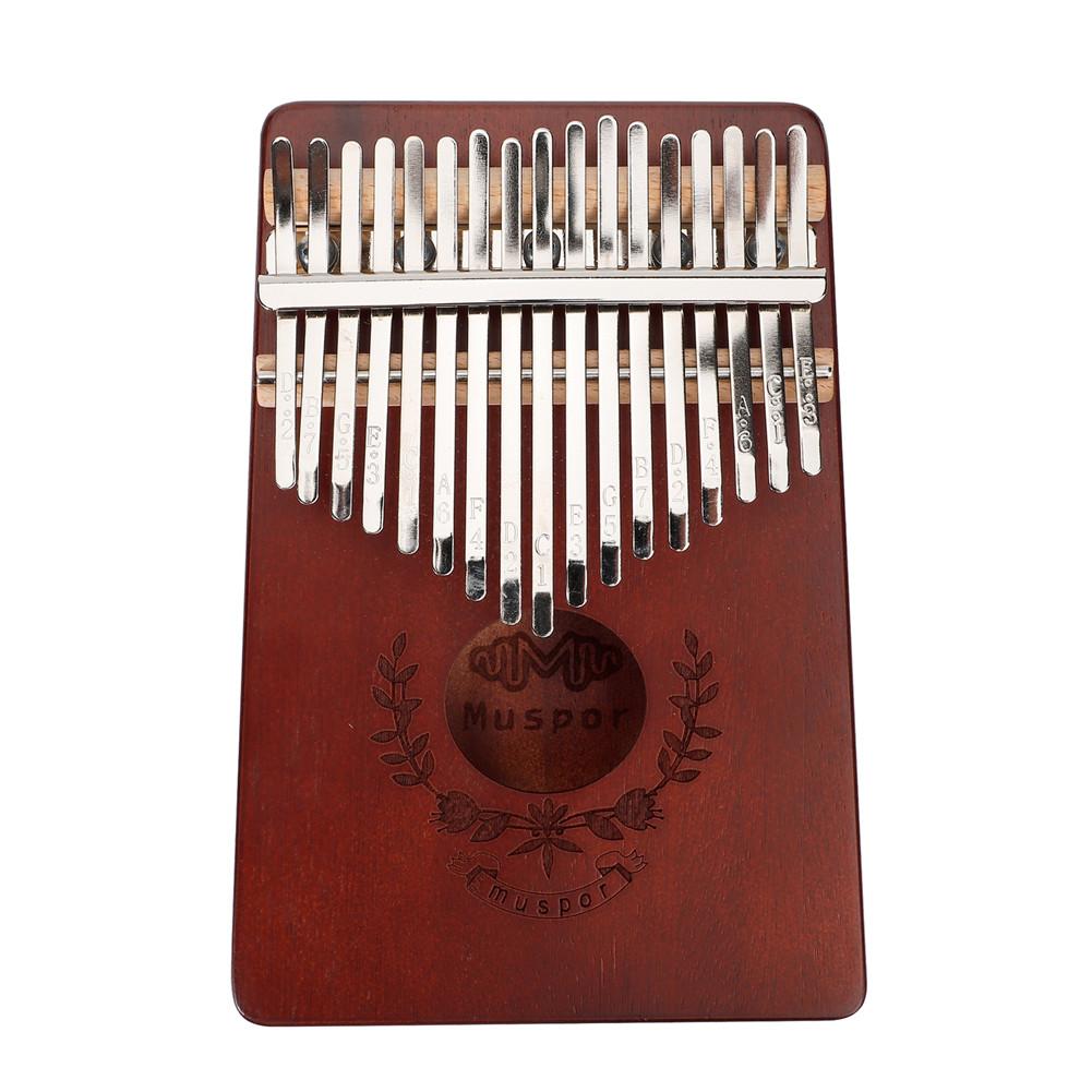 17-keys Mahogany Kalimba Finger Thumb Piano Mbira Garland Style Thumb Piano Brown
