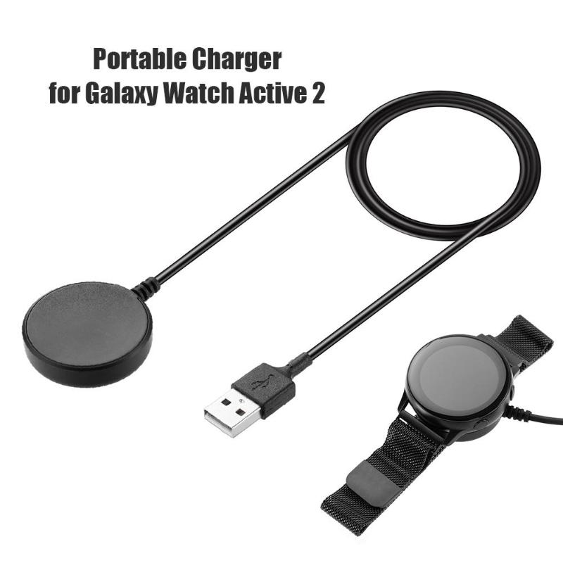 USB Charging Cable fast Charger dock Power Adapter for Samsung Galaxy Watch Active 2 smart watch accessories black