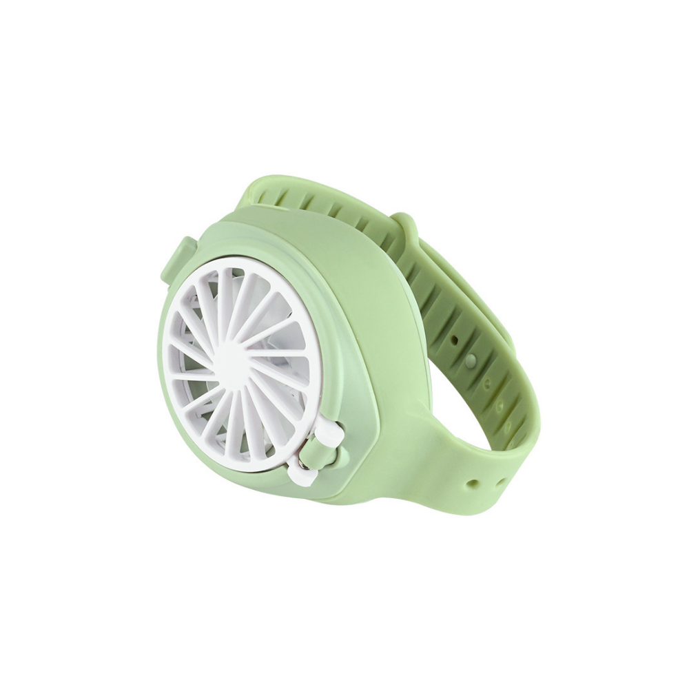 Wrist Type Mini Fan Outdoor Summer Rechargeable USB Pocket Small Fan Watch Fan green_Fan