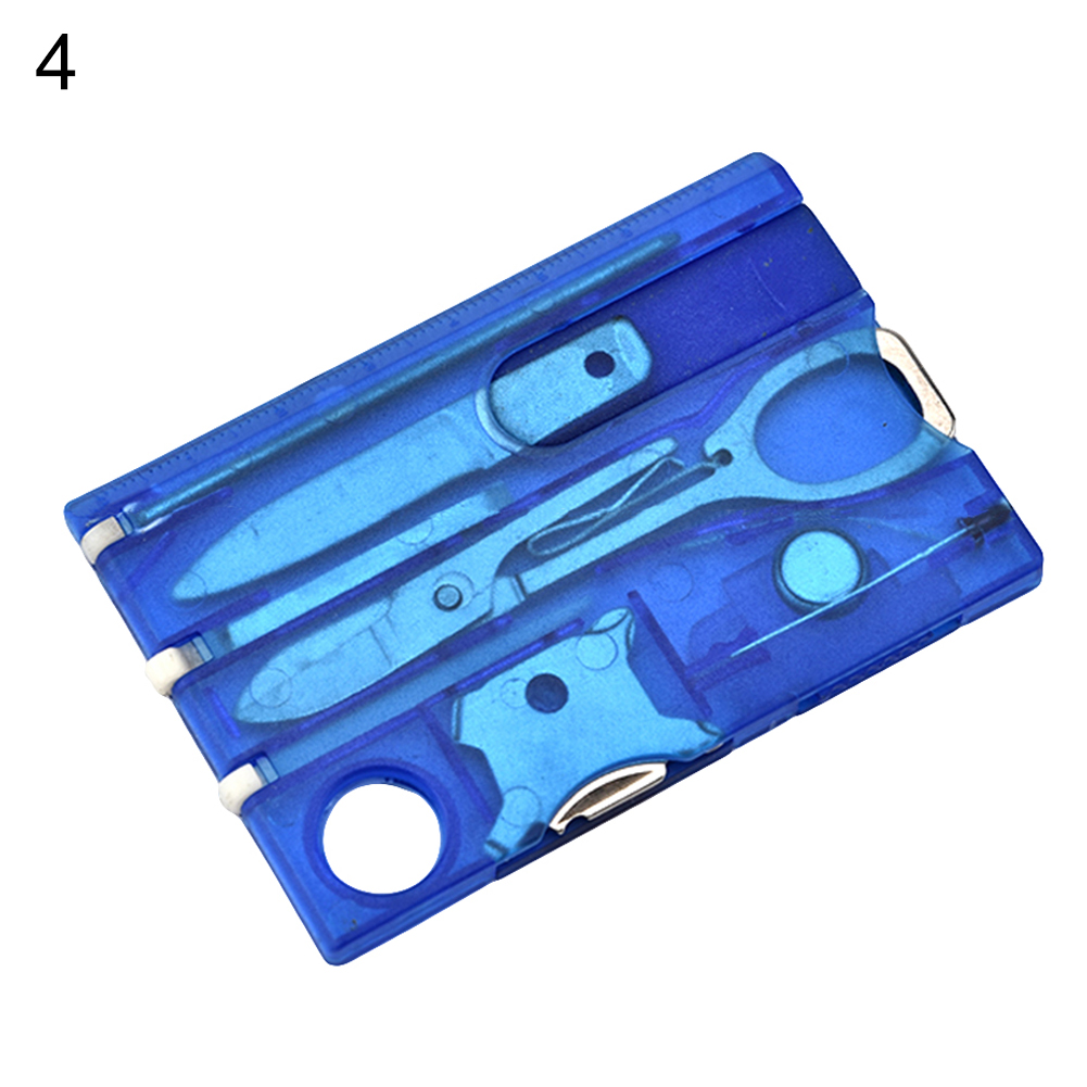 12 IN 1 Credit Card Tool Cutter Blade Business Card Cutter Transparent blue
