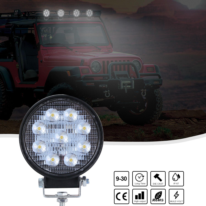 Super Slim Round Spotlight Beam Led Work Light Driving Fog Lights 6000K