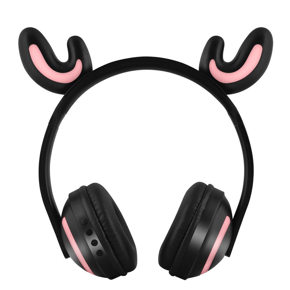 Wireless Bluetooth Headphones Head-mounted Stereo Bass Wireless Bluetooth Headset Antlers