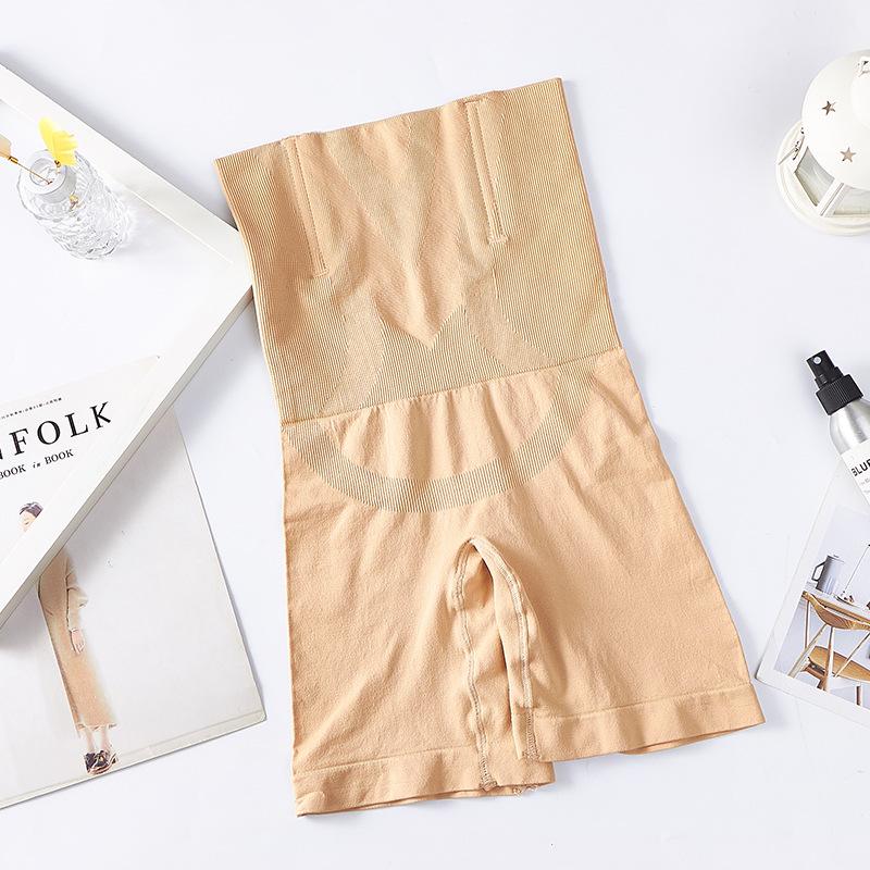 Women Body Shaper Boxer Underwear High Waist Long Slim Panties skin color_M/L