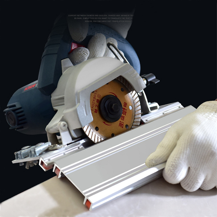 Tile Chamfering Machine 45 Degree Cutting Multi-functional Accessories Silver