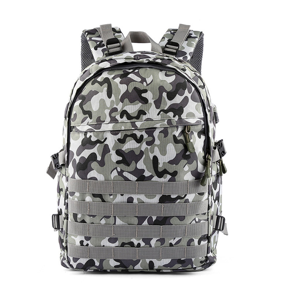 Stylish Male Casual Backpack Nylon Travel Camouflage Computer Bag Shoulder Bag Camouflage blue