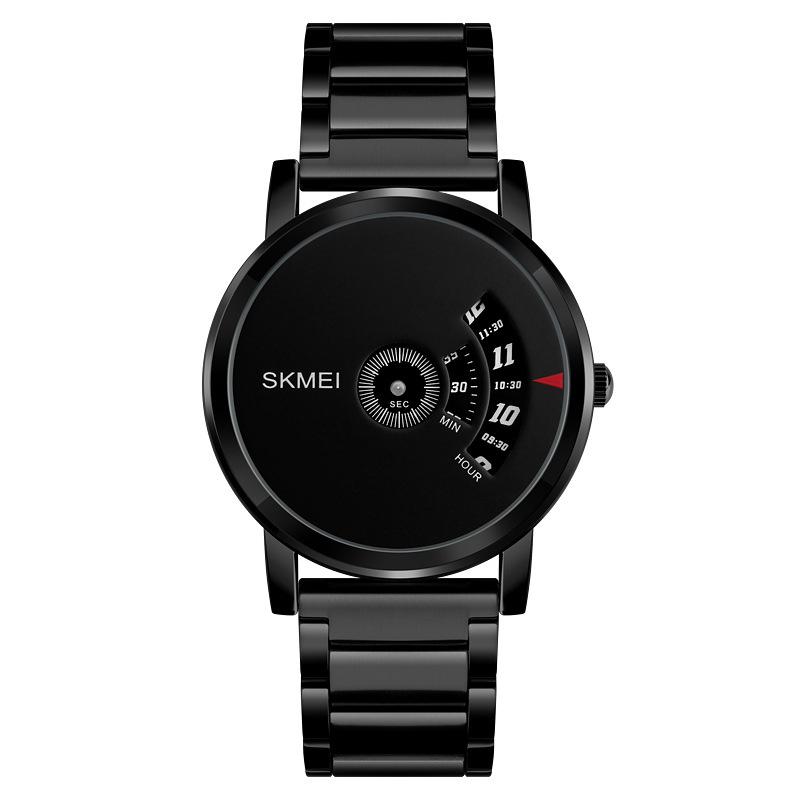 SKMEI Men Luxury Dial Quartz Wristwatch black
