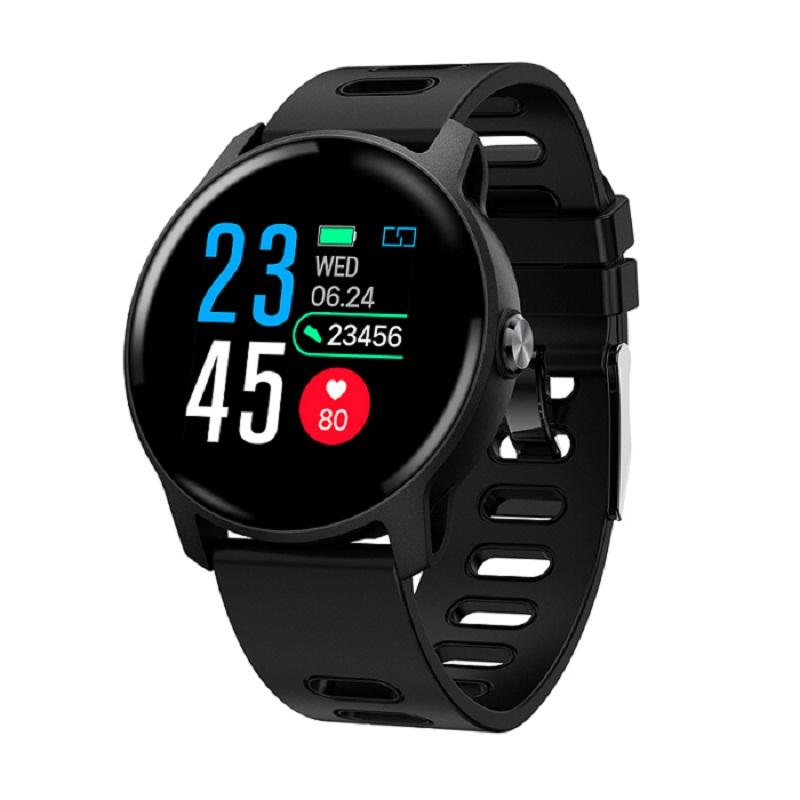S08 Men Sport Pedometer Smart Watch IP68 Waterproof Fitness Tracker Heart Rate Monitor Clock Women Smart Bracelet Black