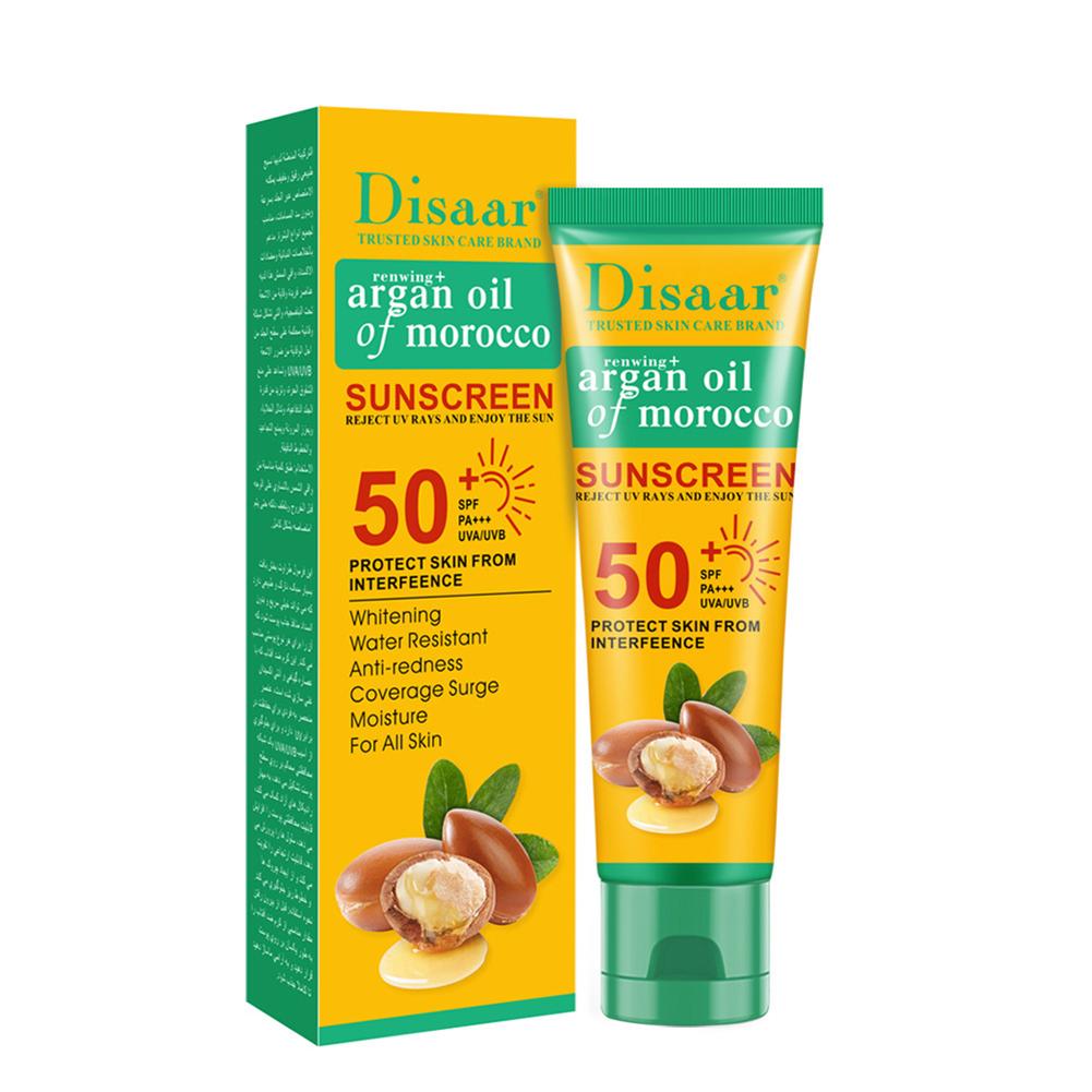 Spf50+  Sunscreen  Cream Facial Body Whitening Sunscreen Multi-effect Moisturizing Skin Care Sunscreen Cream 50ml argan oil