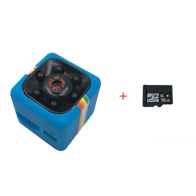 SQ11 Mini Camera Add 16GB Card Blue
